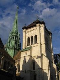 Catedral de san pedro en ginebra